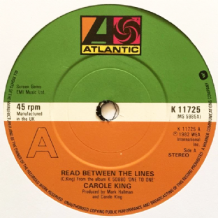 "Carole King - Read Between The Lines (7"") (EX-/NM)"